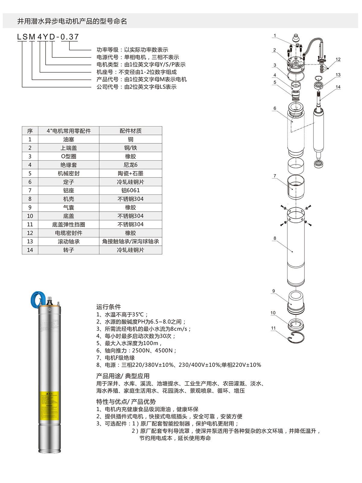 4寸充油潜水电机(图1)