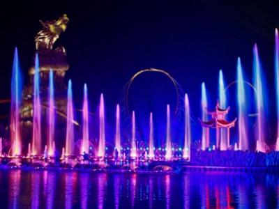 安徽合肥万达主题乐园大湖秀音乐喷泉项目